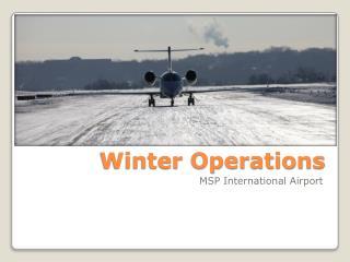 Winter Operations