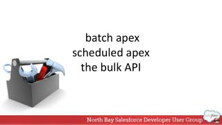 batch apex scheduled apex the bulk API