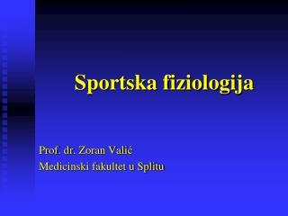 Sportska fiziologija