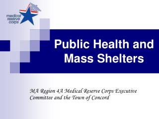 Public Health and Mass Shelters