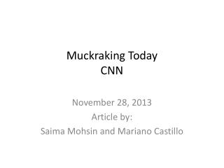 Muckraking Today CNN