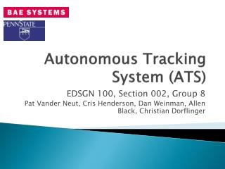 Autonomous Tracking System (ATS)