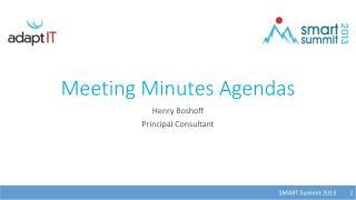 Meeting Minutes Agendas
