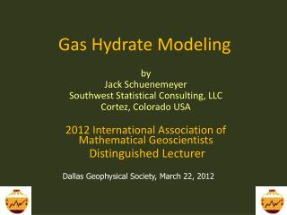 Gas Hydrate Modeling