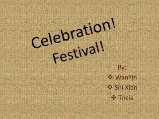 Celebration ! Festival!