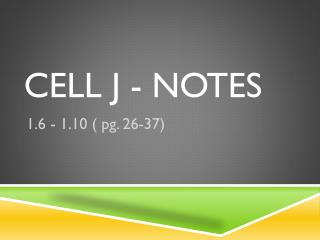 Cell j - notes