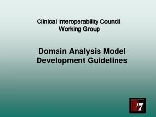 Domain Analysis Model Development Guidelines