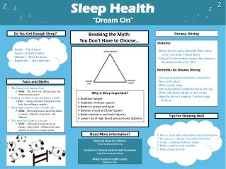 "Sleep Health ""Dream On"""