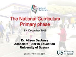 The National Curriculum Primary phase