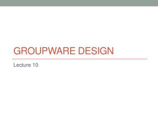 groupware DESIGN