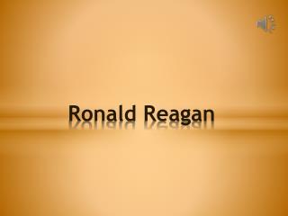 Ronald Reagan