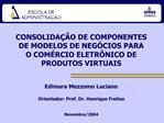 CONSOLIDA  O DE COMPONENTES  DE MODELOS DE NEG CIOS PARA  O COM RCIO ELETR NICO DE  PRODUTOS VIRTUAIS
