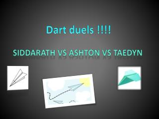 Dart duels !!!!
