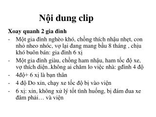 Nội  dung clip