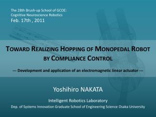 Yoshihiro NAKATA Intelligent Robotics Laboratory