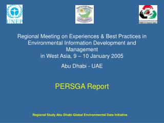 Regional Meeting on Experiences  Best Practices in Environmental Information Development and Management in West Asia, 9