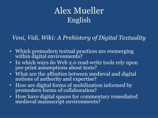 Alex Mueller English