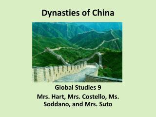 Dynasties of China