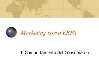 Marketing corso EBFA
