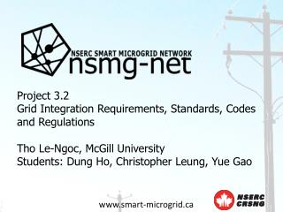 Project 3.2 Grid Integration Requirements, Standards, Codes and Regulations