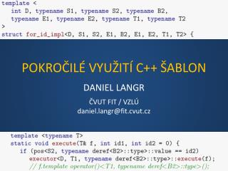 POKRO ?IL�  VYU �IT� C++ �ABLON
