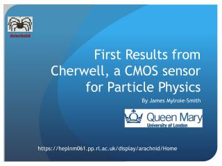 First Results from Cherwell, a CMOS sensor for Particle Physics