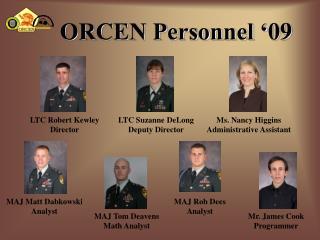 ORCEN Personnel ' 09