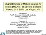 Characteristics of Mobile-Source Air Toxics MSATs at Several Schools Next to U.S. 95 in Las Vegas, NV