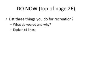 DO NOW (top of page 26)