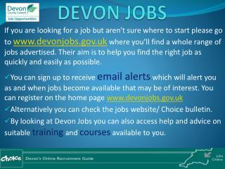 DEVON JOBS