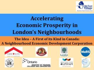 Accelerating  Economic Prosperity in  London's Neighbourhoods