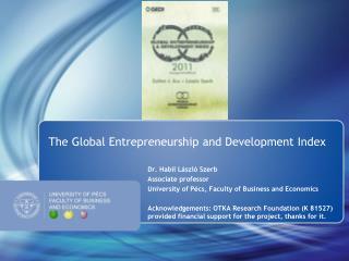 The Global Entrepreneurship and Development Index