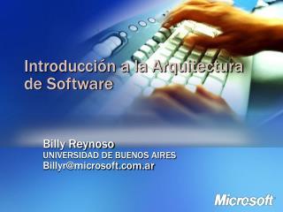 Introducci n a la Arquitectura de Software