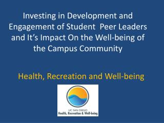 Health, Recreation and Well-being