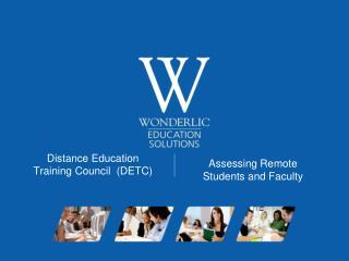 Distance Education  Training Council  (DETC)