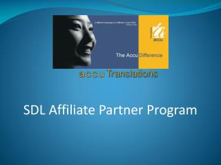 SDL Affiliate Partner Program