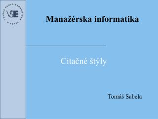 Mana��rska  informatika