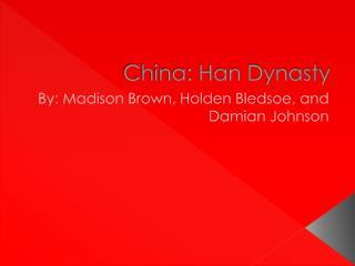 China: Han Dynasty