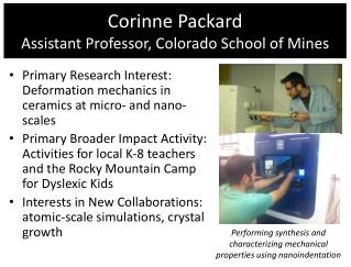 Corinne Packard Assistant Professor , Colorado School of Mines