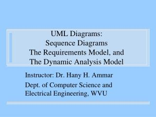 UML Diagrams: Sequence Diagrams The Requirements Model, and The Dynamic Analysis Model
