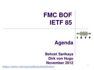 Agenda  Behcet Sarikaya  Dirk von Hugo November 2012