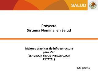 Proyecto  Sistema Nominal en Salud
