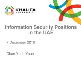 Information Security Positions in the UAE