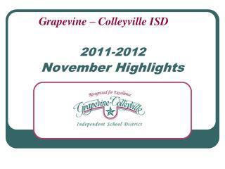 2011-2012 November Highlights