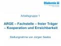 ARGE   Fachstelle   freier Tr ger   Kooperation und Erreichbarkeit
