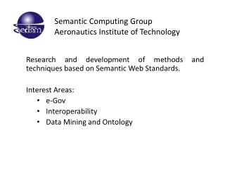 Semantic Computing Group Aeronautics Institute of Technology