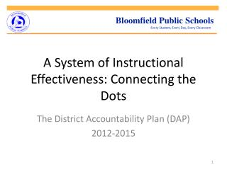 A System of Instructional Effectiveness: Connecting the Dots