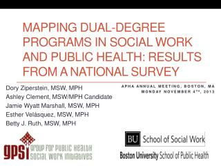 Mapping  dual-degree programs in social work and public health:  Results from a national survey