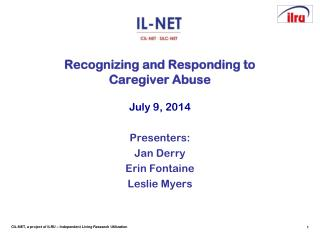 Recognizing and Responding to  Caregiver Abuse