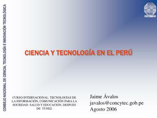 CIENCIA Y TECNOLOG A EN EL PER